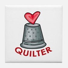 Quilter Tile Coaster