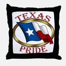 Texas Pride (T).png Throw Pillow
