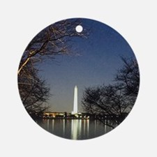 Washington Monument Ornament (Round)