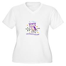 AFRAID OF THE DARK Plus Size T-Shirt