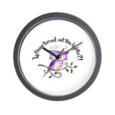 WHO TURNED OUT LIGHTS Wall Clock