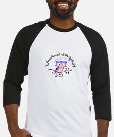 WHO TURNED OUT LIGHTS Baseball Jersey