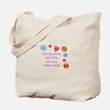 Buttons And Pins Tote Bag