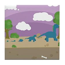 Derpy Dinos Tile Coaster