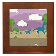 Derpy Dinos Framed Tile