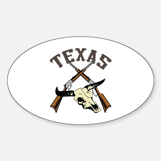 TEXAS RIFLES AND SKULL Decal