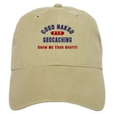 """Coed Naked Geocaching"" Baseball Cap"