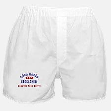 """""""Coed Naked Geocaching"""" Boxer Shorts"""