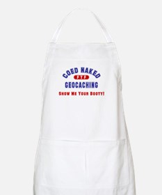 """Coed Naked Geocaching"" BBQ Apron"
