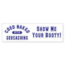 """Coed Naked Geocaching"" Bumper Bumper Sticker"