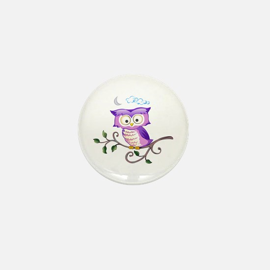 OWL ON BRANCH Mini Button