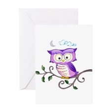 OWL ON BRANCH Greeting Cards
