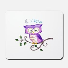OWL ON BRANCH Mousepad