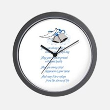 WEDDING WISHES Wall Clock