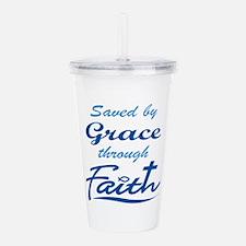 GRACE THROUGH FAITH Acrylic Double-wall Tumbler