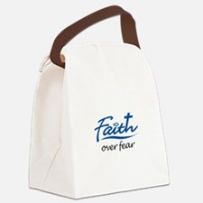 FAITH OVER FEAR Canvas Lunch Bag