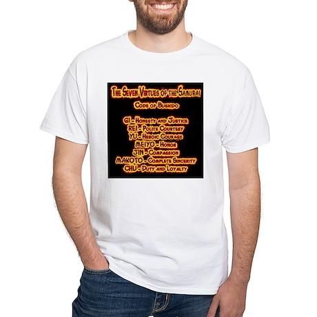 Code of Bushido White T-shirt