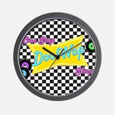 One Stop Doo Wop Shop Wall Clock