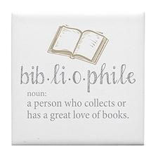 Bibliophile - Tile Coaster