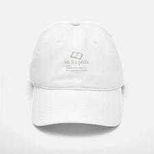 Bibliophile - Baseball Baseball Cap
