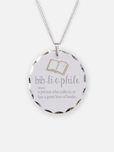 Bibliophile - Necklace Circle Charm