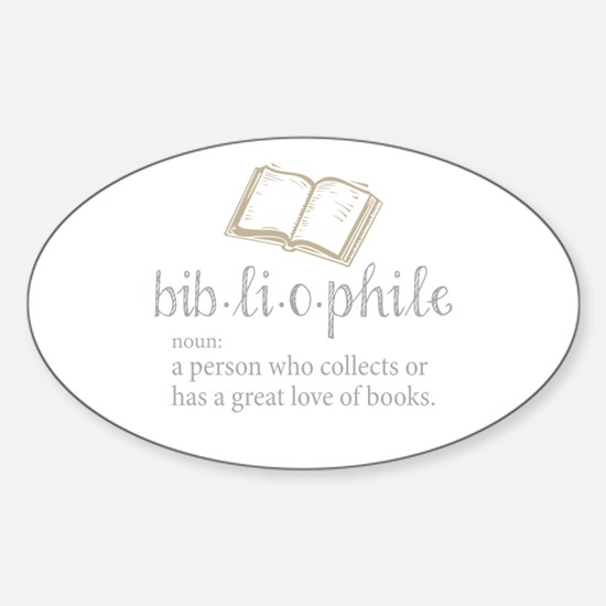 Bibliophile - Sticker (Oval)