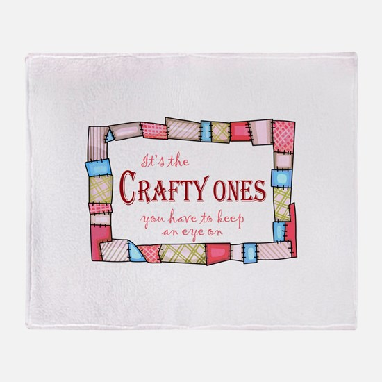 QUILTING HUMOR Throw Blanket