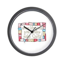 QUILTING HUMOR Wall Clock