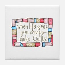 QUILTING HUMOR Tile Coaster