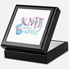 KNIT USUALLY HAPPENS Keepsake Box