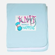KNIT USUALLY HAPPENS baby blanket