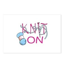 KNIT ON Postcards (Package of 8)
