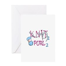 KNIT 1 PURL 2 Greeting Cards