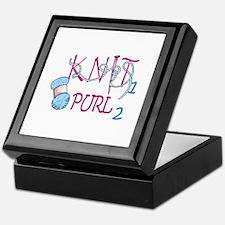 KNIT 1 PURL 2 Keepsake Box
