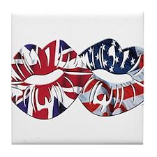 US UK Transatlantic Kiss Tile Coaster