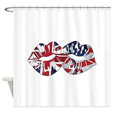 US UK Transatlantic Kiss Shower Curtain