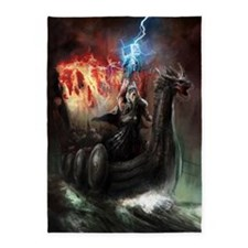 Dragon Viking Ship 5'x7'Area Rug