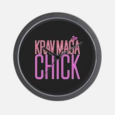 Cute Krav Maga Chick Wall Clock