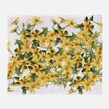 Daisy Botanical Flowers Floral Throw Blanket