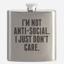 Im Not Anti-Social I Just Don't Care Flask
