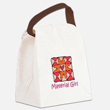 Material Girl Canvas Lunch Bag
