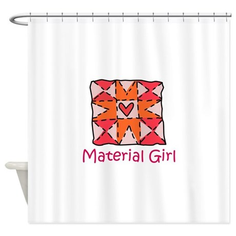 Material Girl Shower Curtain By Greatnotions14