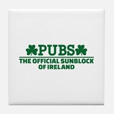 Pubs official sunblock of Ireland Tile Coaster