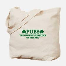 Pubs official sunblock of Ireland Tote Bag