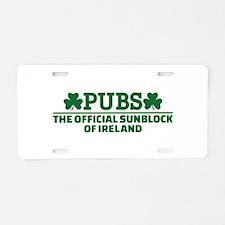 Pubs official sunblock of I Aluminum License Plate