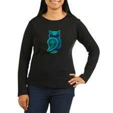 Turquoise Owl Long Sleeve T-Shirt