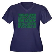 If you can r Women's Plus Size V-Neck Dark T-Shirt