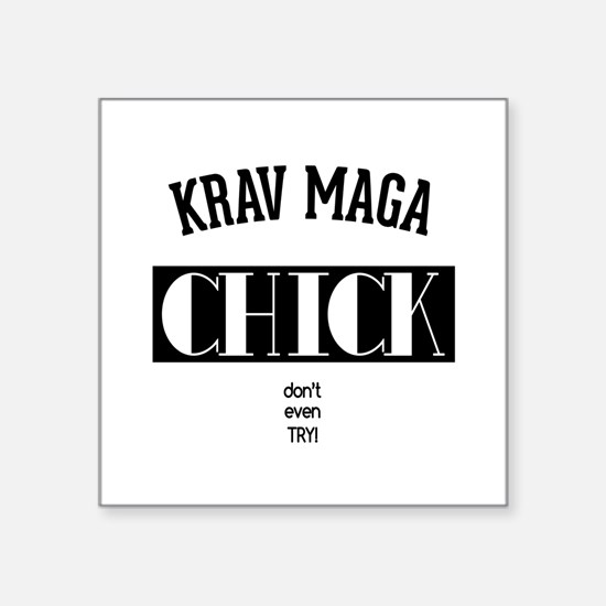 Krav Maga Chick - Dont even try Sticker