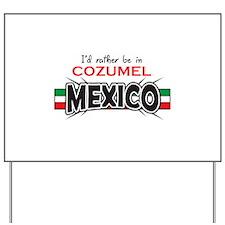 MEXICO APPLIQUE COZUMEL Yard Sign