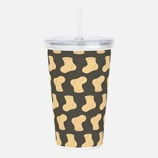 Brown and Tan Cute Lit Acrylic Double-wall Tumbler